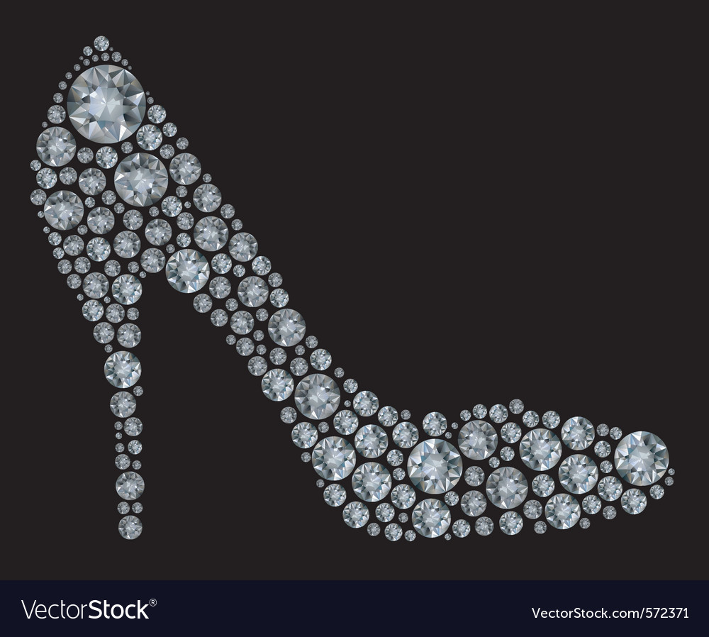 Diamond high heel shoe vector | Price: 1 Credit (USD $1)