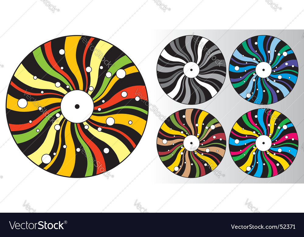 Disco plates vector | Price: 1 Credit (USD $1)