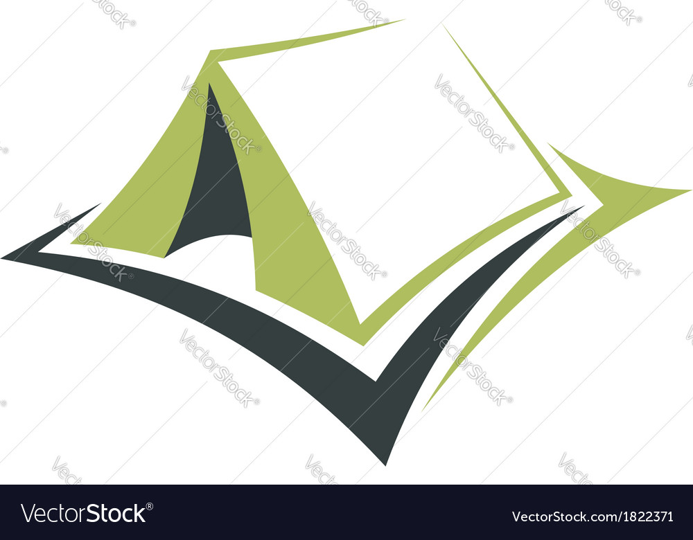 Green tent for an eco holiday vector   Price: 1 Credit (USD $1)