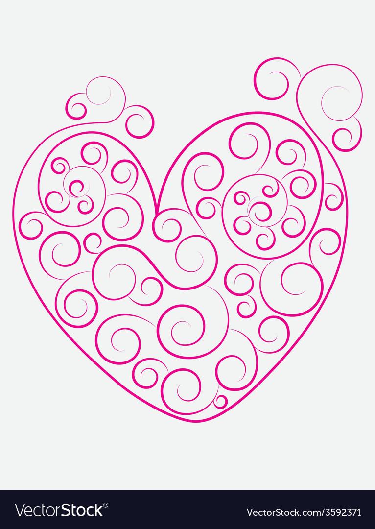 Heart ornament vector | Price: 1 Credit (USD $1)
