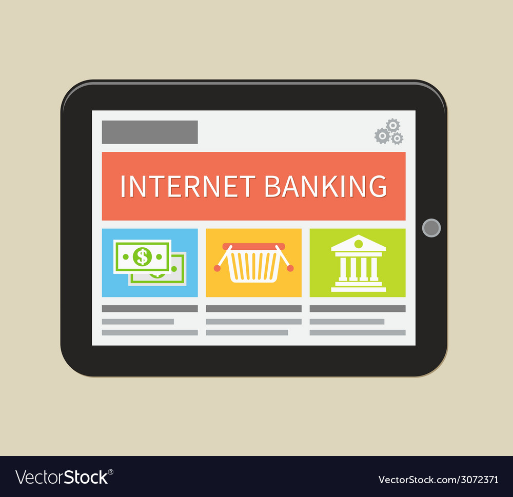 Internet banking online purchasing and transaction vector | Price: 1 Credit (USD $1)