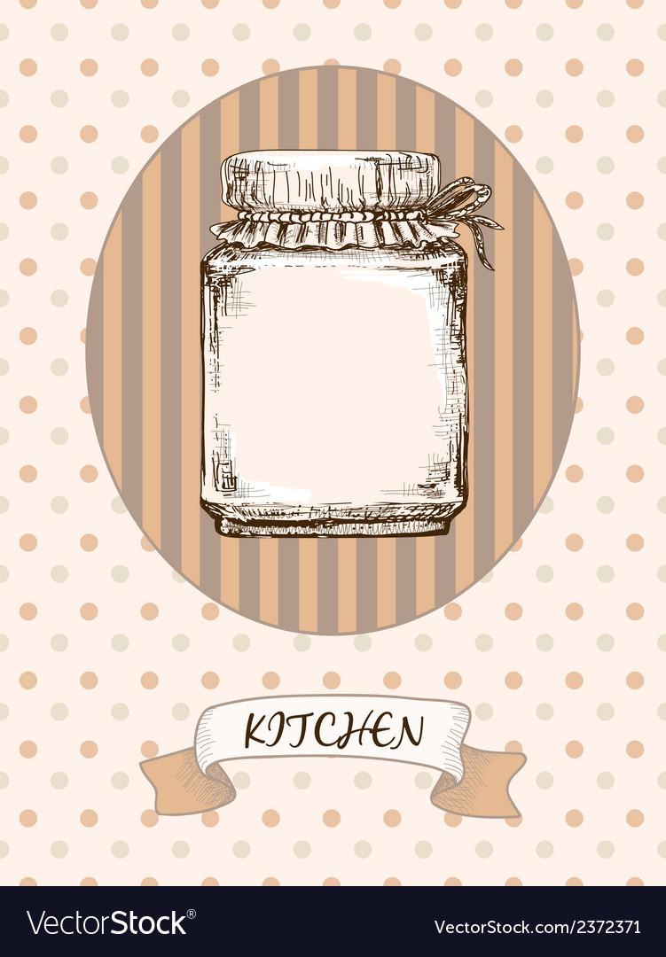 Kitchen design jar vector | Price: 1 Credit (USD $1)