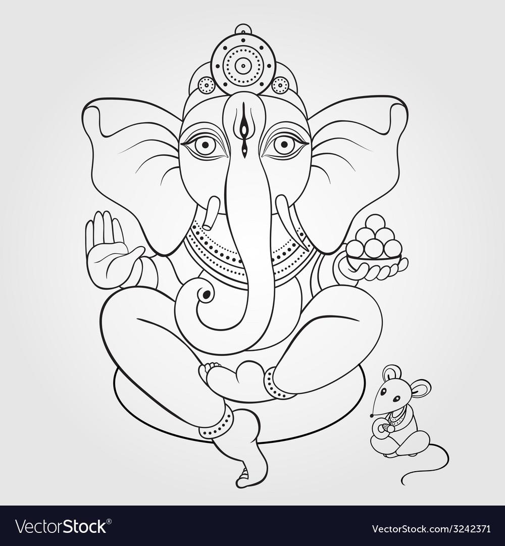 Lord ganesha hand drawn vector   Price: 1 Credit (USD $1)