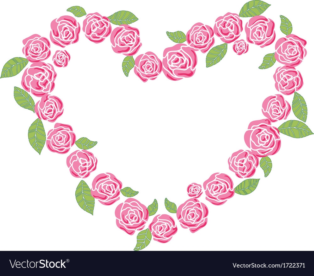Roses love frame vector | Price: 1 Credit (USD $1)