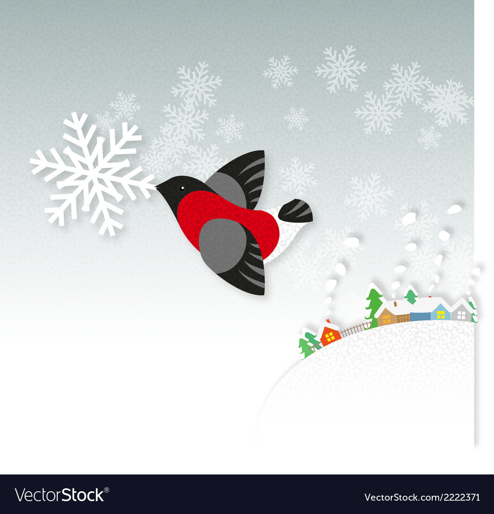Snow bird vector | Price: 1 Credit (USD $1)