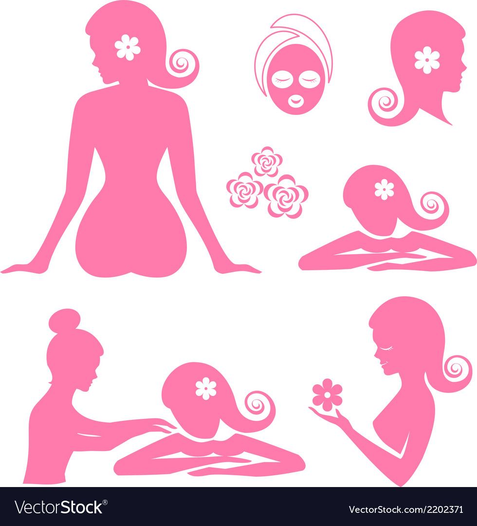 Spa woman set vector | Price: 1 Credit (USD $1)