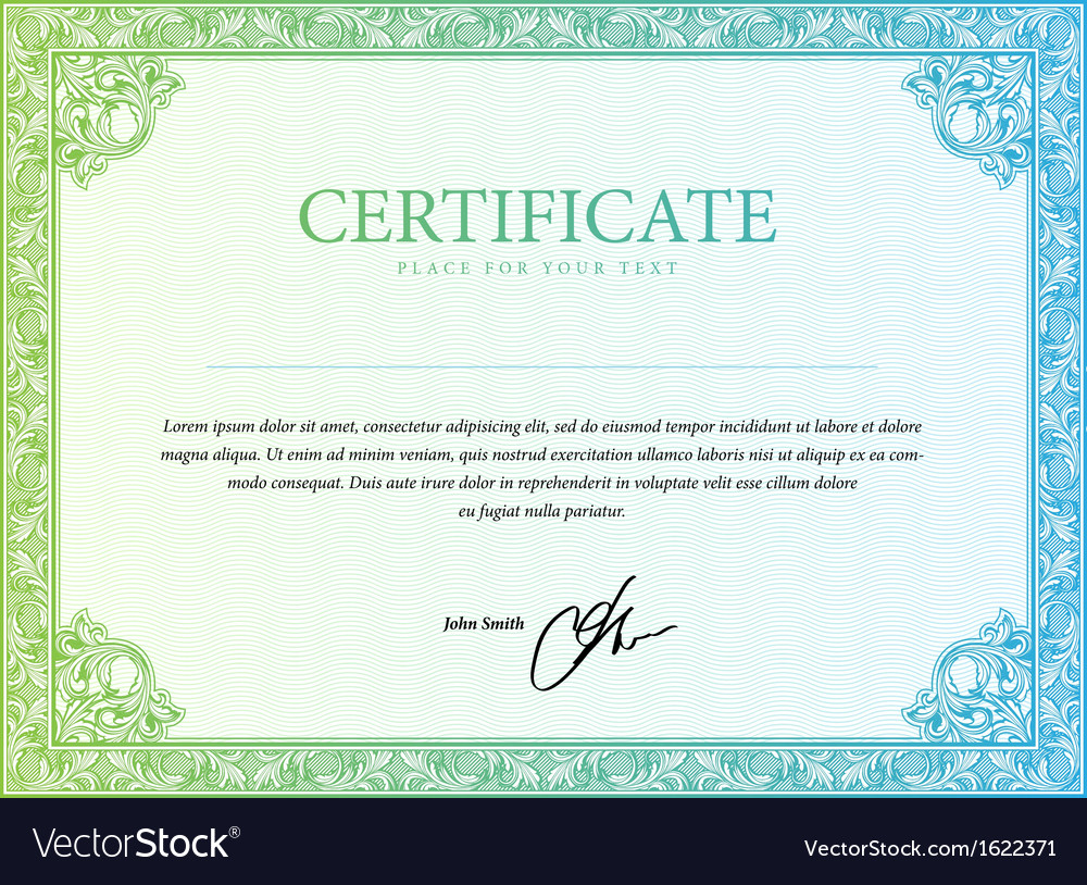 Template border diplomas certificate and currency vector | Price: 1 Credit (USD $1)
