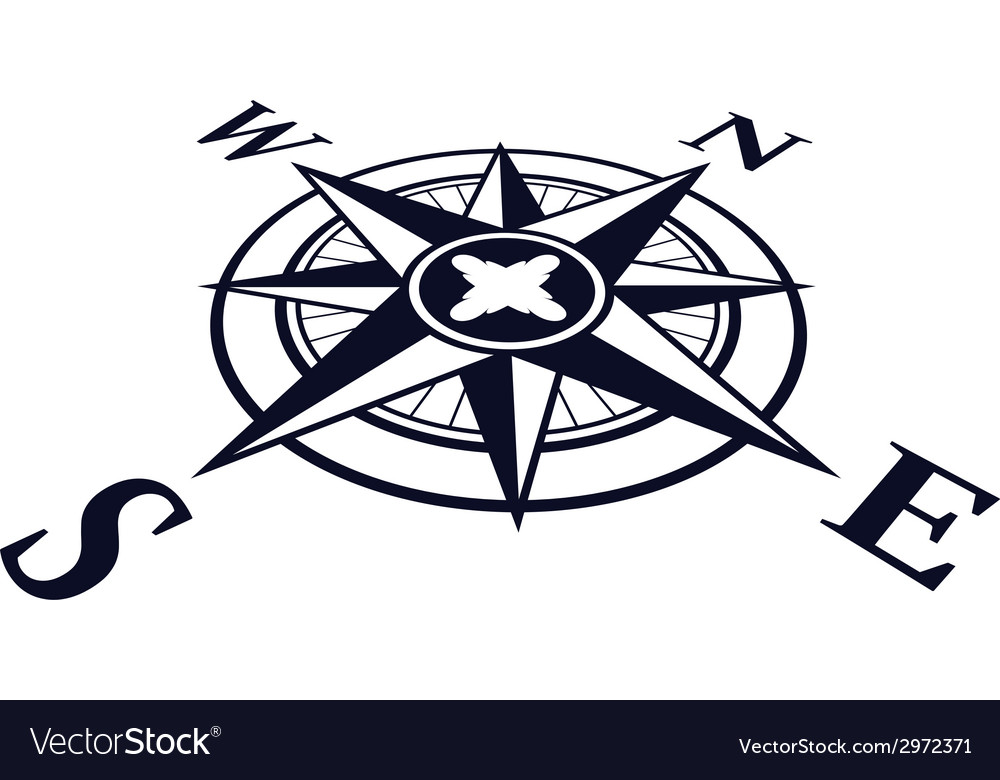 Wind rose perspective vector | Price: 1 Credit (USD $1)