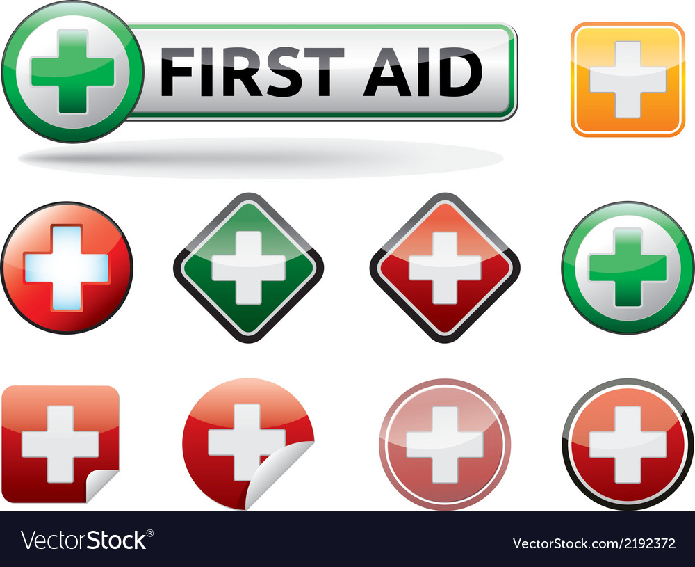 First aid icons vector | Price: 1 Credit (USD $1)