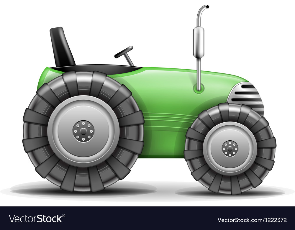 Green agricultural tractor vector | Price: 3 Credit (USD $3)