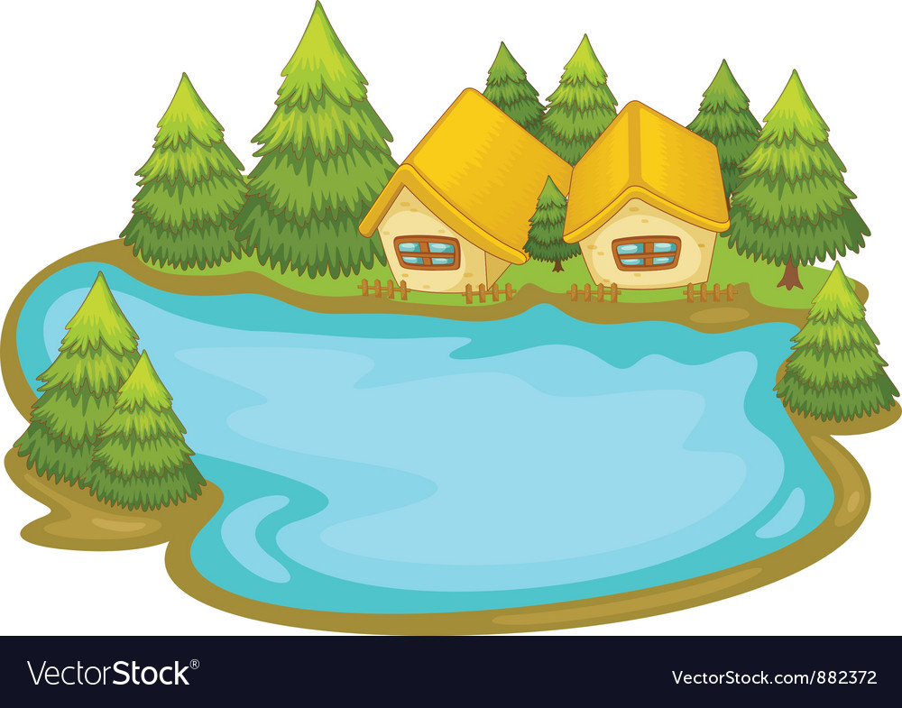 Lake house vector | Price: 3 Credit (USD $3)