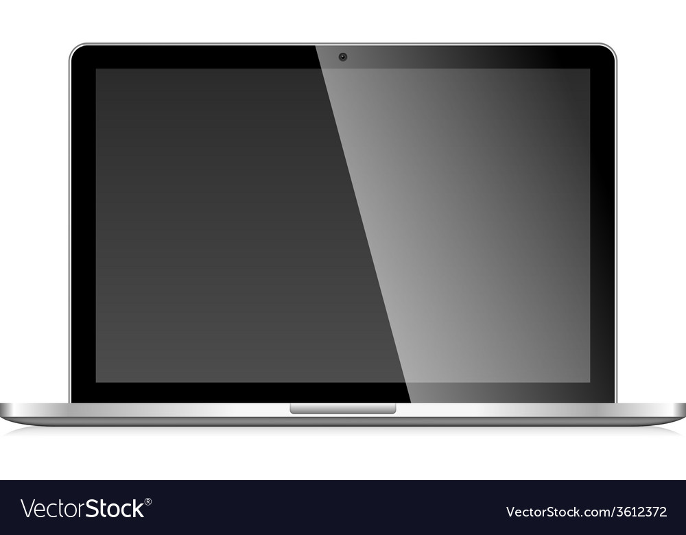Laptop with blank screen vector | Price: 1 Credit (USD $1)