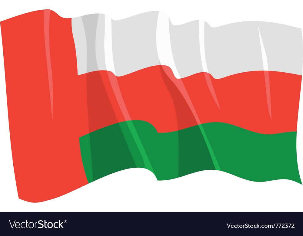 Political waving flag of oman vector | Price: 1 Credit (USD $1)