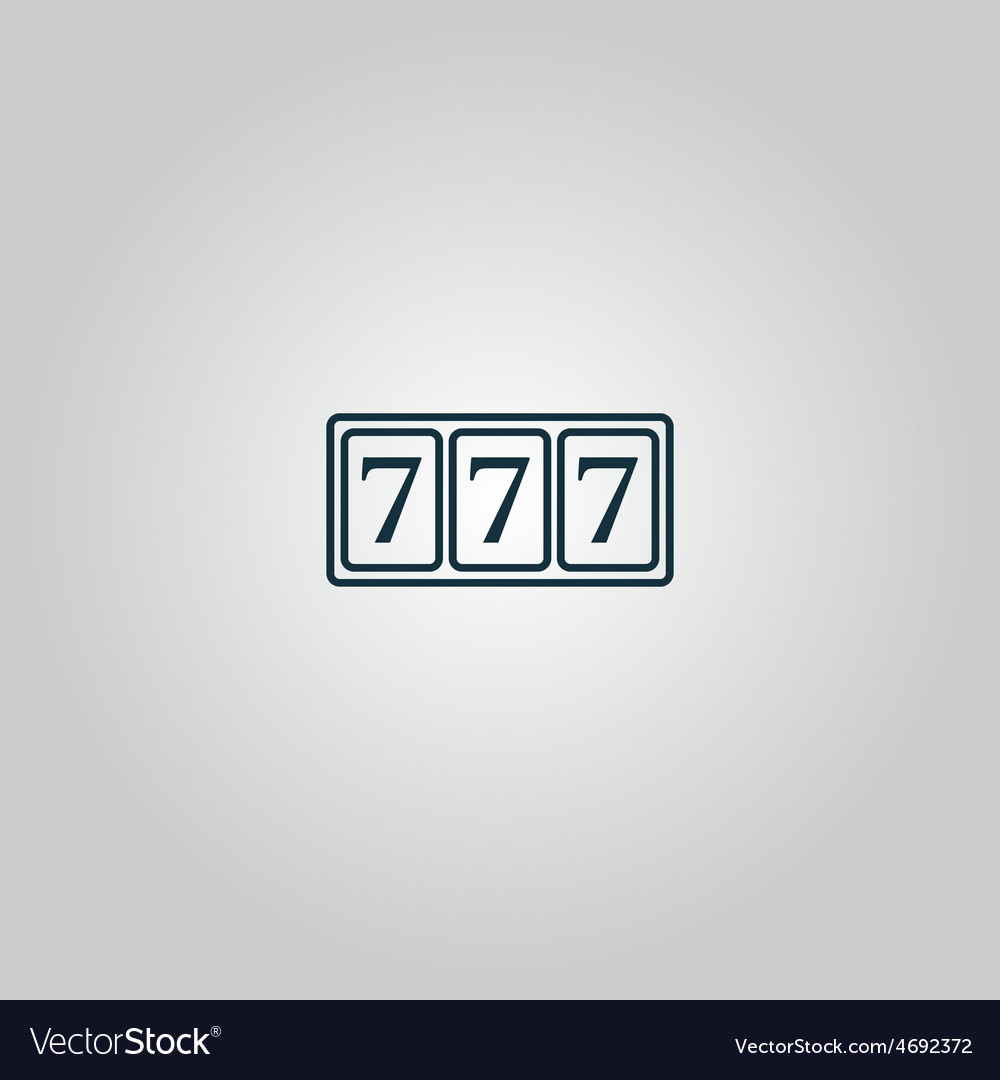 Simple icon 777 vector | Price: 1 Credit (USD $1)