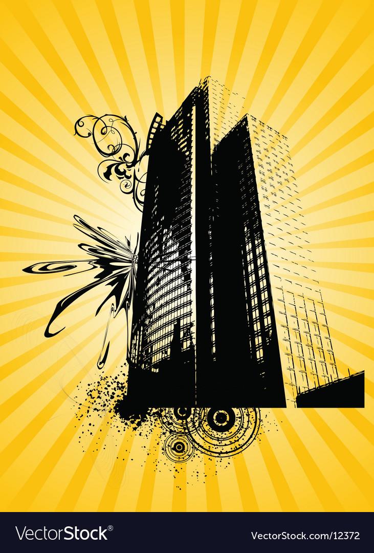 Urban building graphic vector | Price: 1 Credit (USD $1)