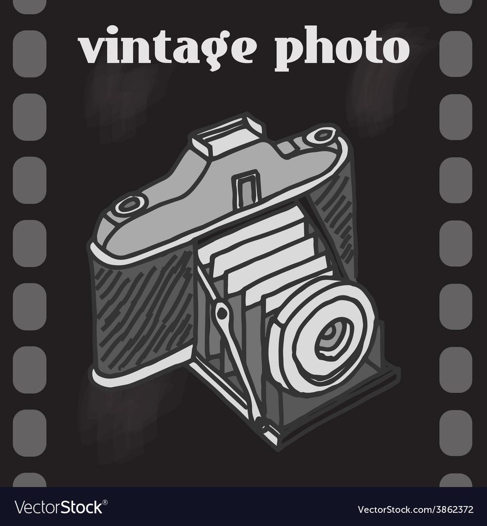 Vintage camera poster vector | Price: 1 Credit (USD $1)