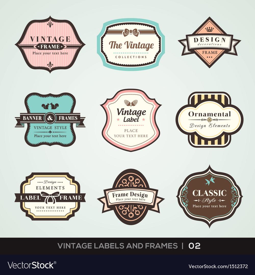 Vintage labels and frames vector | Price: 3 Credit (USD $3)