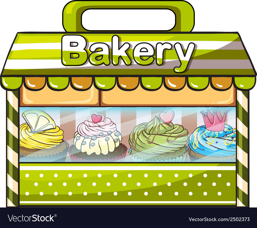 A green bakery store vector | Price: 1 Credit (USD $1)