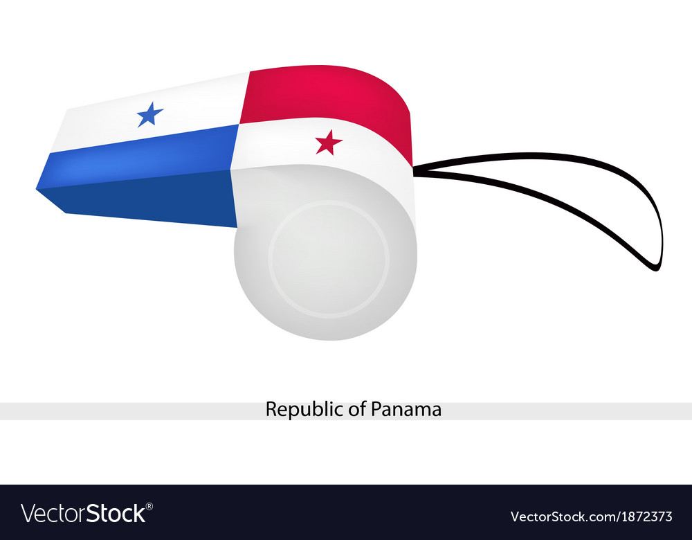 A whistle of the republic of panama vector | Price: 1 Credit (USD $1)