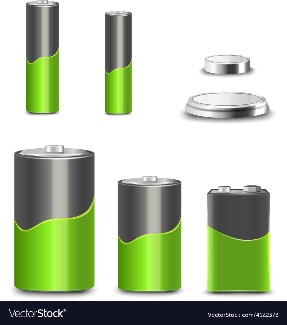 Battery icons set vector | Price: 1 Credit (USD $1)
