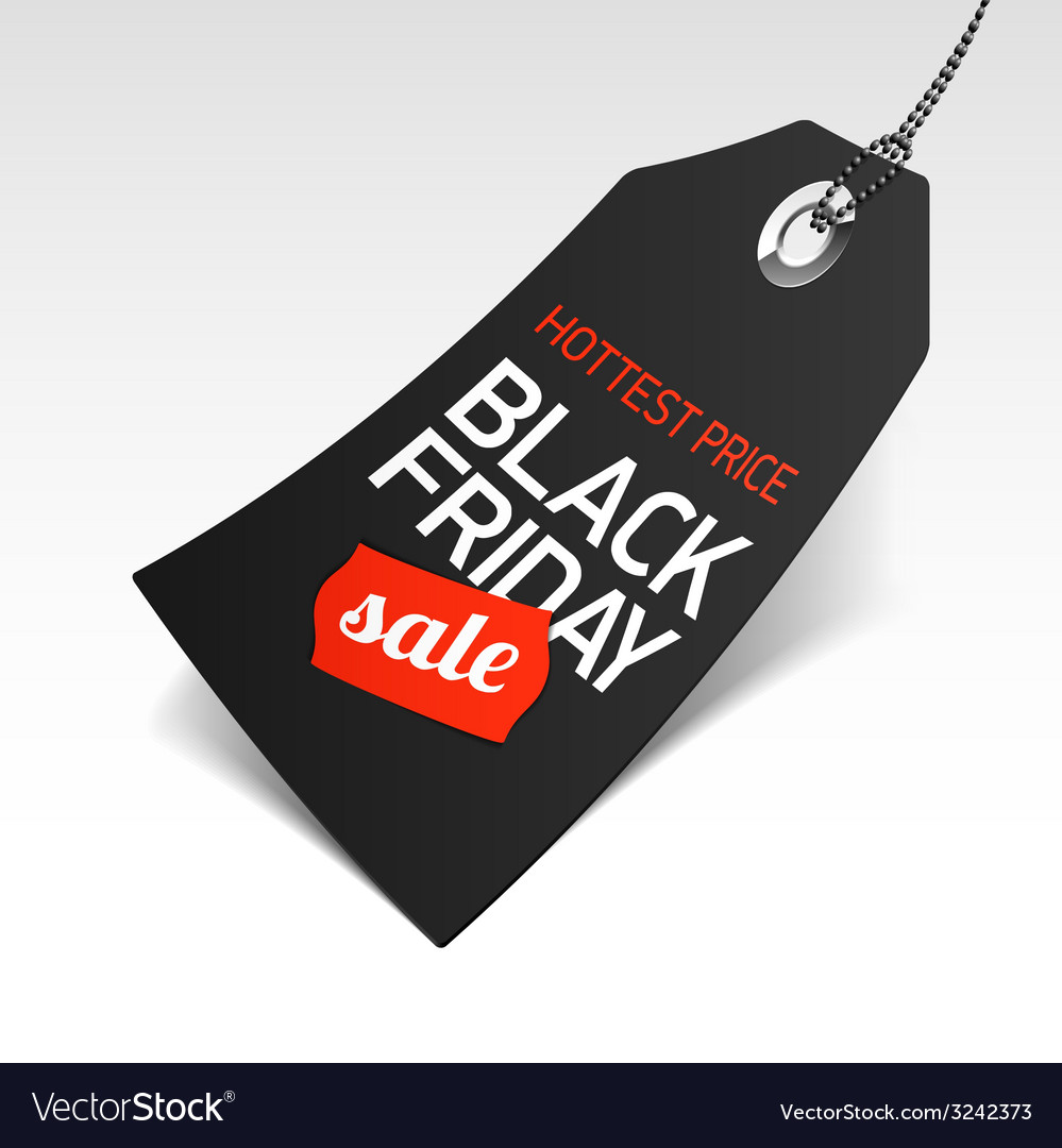 Black friday sale price tag vector | Price: 1 Credit (USD $1)
