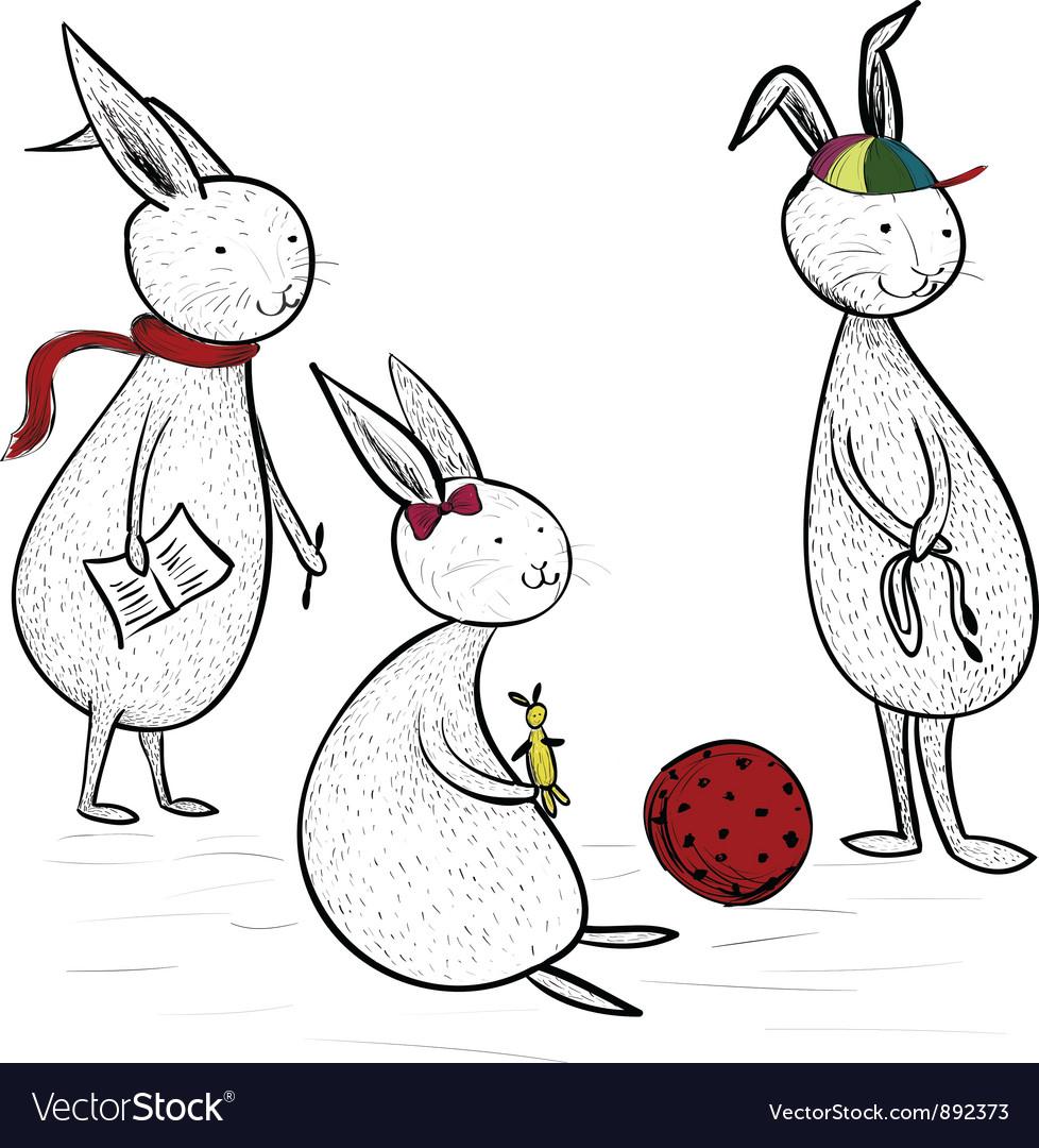 Bunny kids vector   Price: 3 Credit (USD $3)