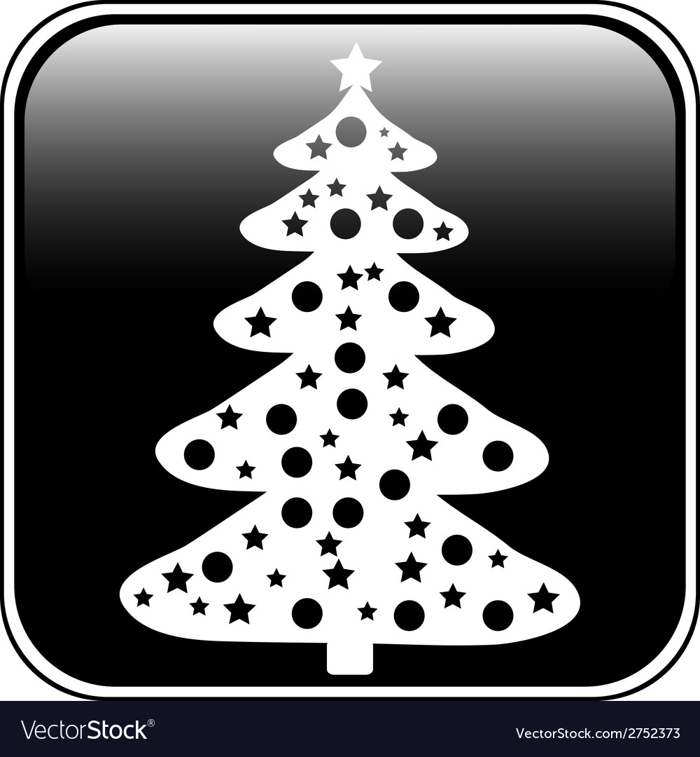 Christmas tree button vector | Price: 1 Credit (USD $1)