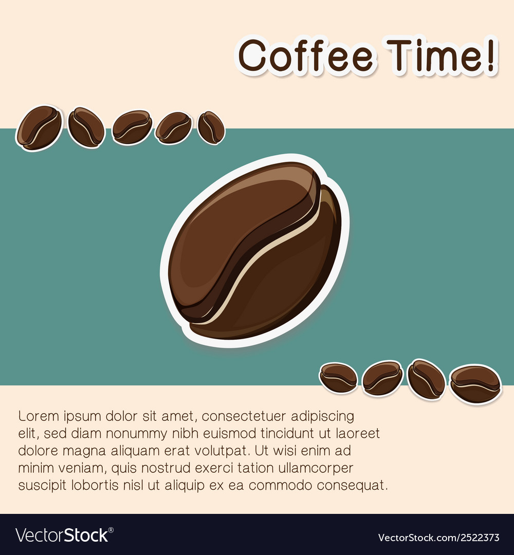 Coffee concept background vector | Price: 1 Credit (USD $1)