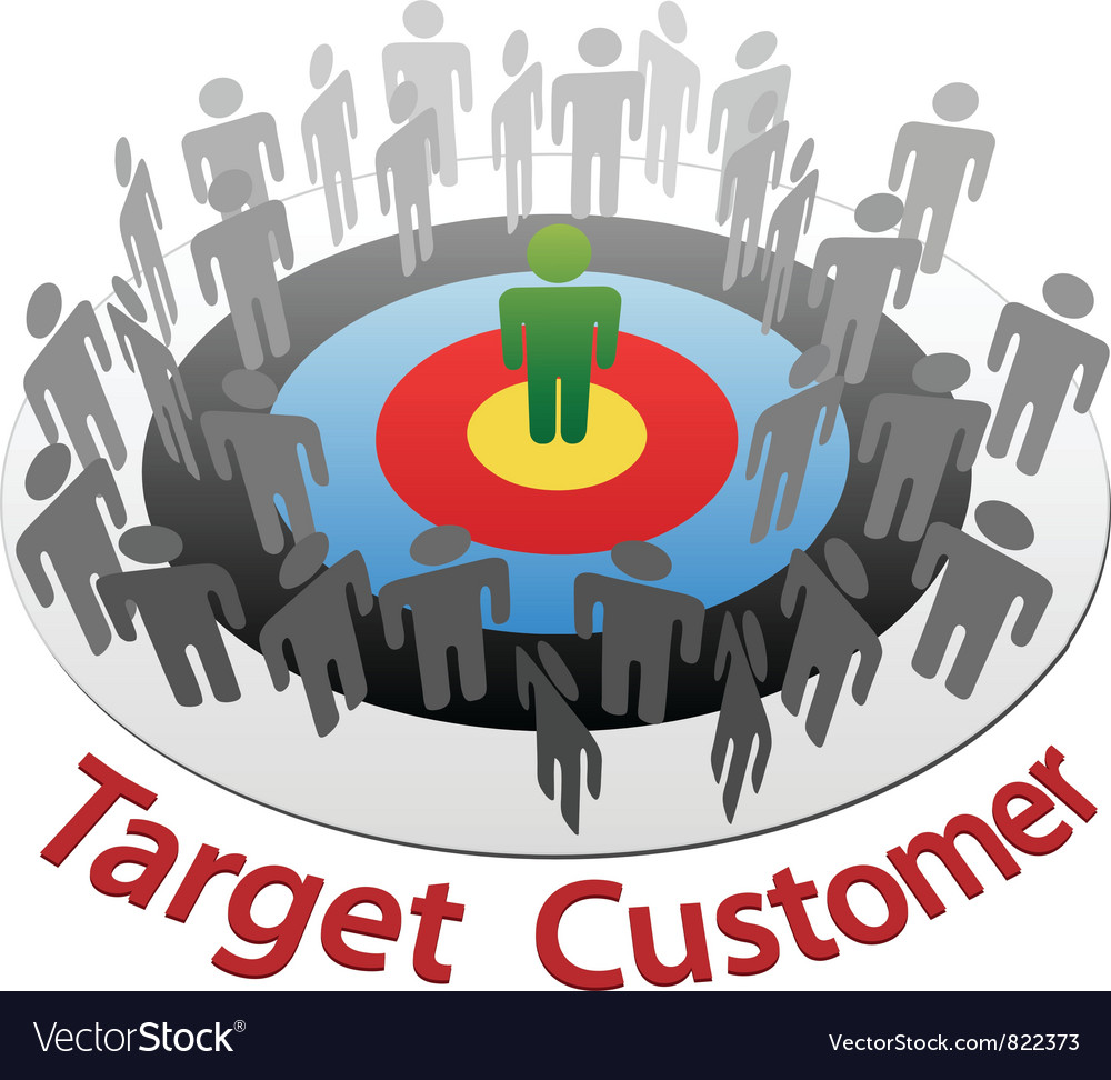 Customer target marketing vector | Price: 1 Credit (USD $1)