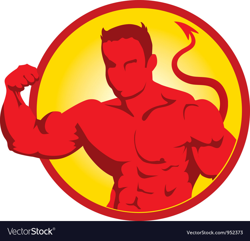 Devil bodybuilder3 vector | Price: 1 Credit (USD $1)