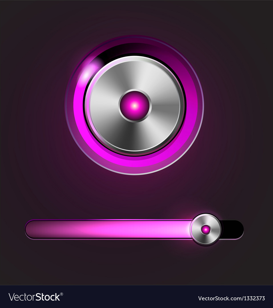 Glossy media player button and track bar vector | Price: 1 Credit (USD $1)