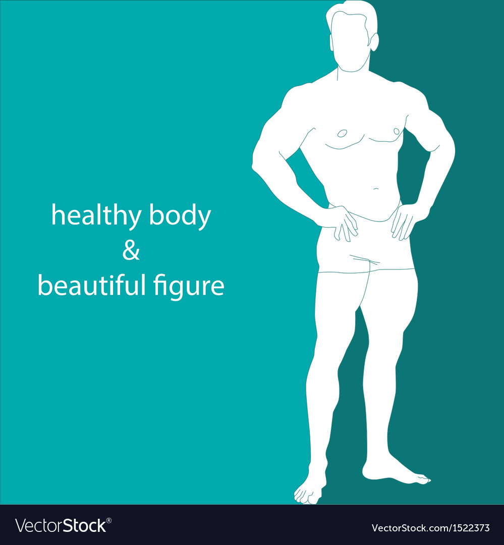 Healthy body  beautiful figure vector | Price: 1 Credit (USD $1)