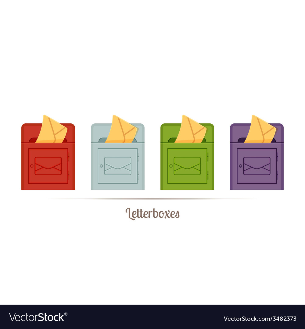 Letterboxes vector | Price: 1 Credit (USD $1)