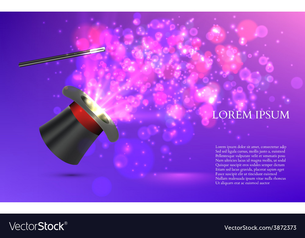Magician top hat with fireworks vector | Price: 1 Credit (USD $1)