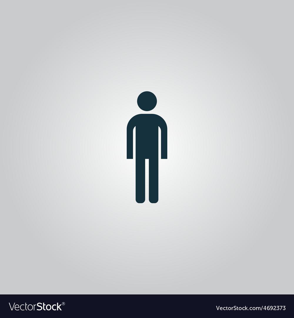 Man icon vector | Price: 1 Credit (USD $1)