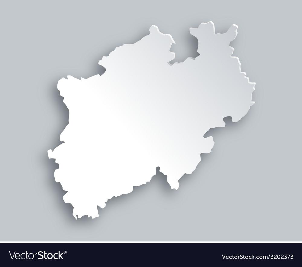 Map of north rhine-westphalia vector | Price: 1 Credit (USD $1)