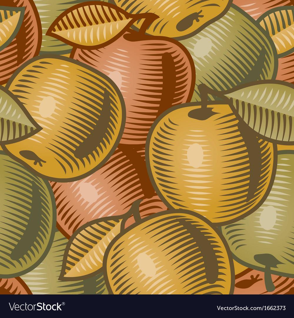 Retro apple background vector   Price: 1 Credit (USD $1)