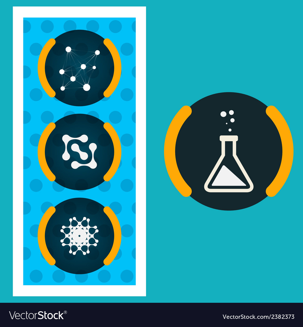 Set icons chemical experiments eps vector | Price: 1 Credit (USD $1)