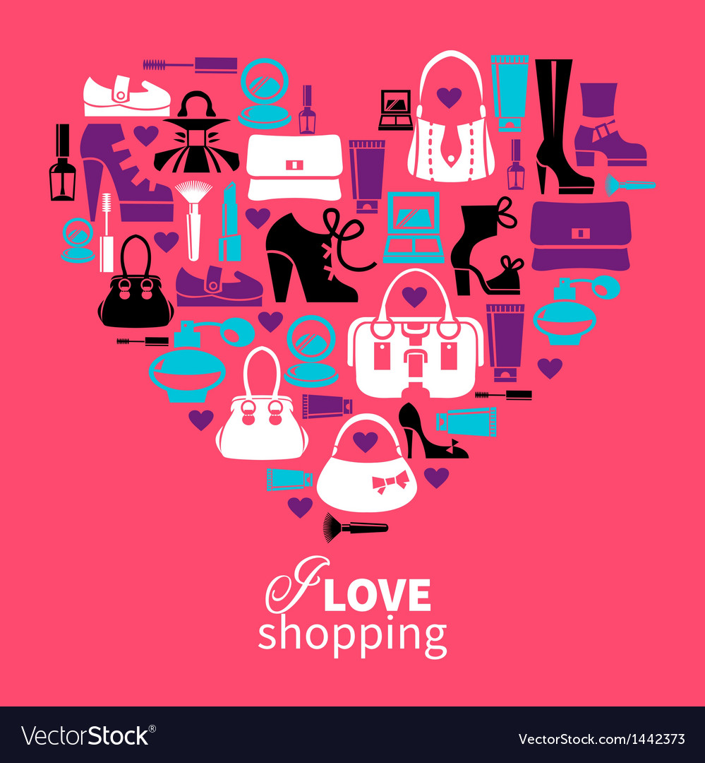 Shopping heart vector | Price: 1 Credit (USD $1)