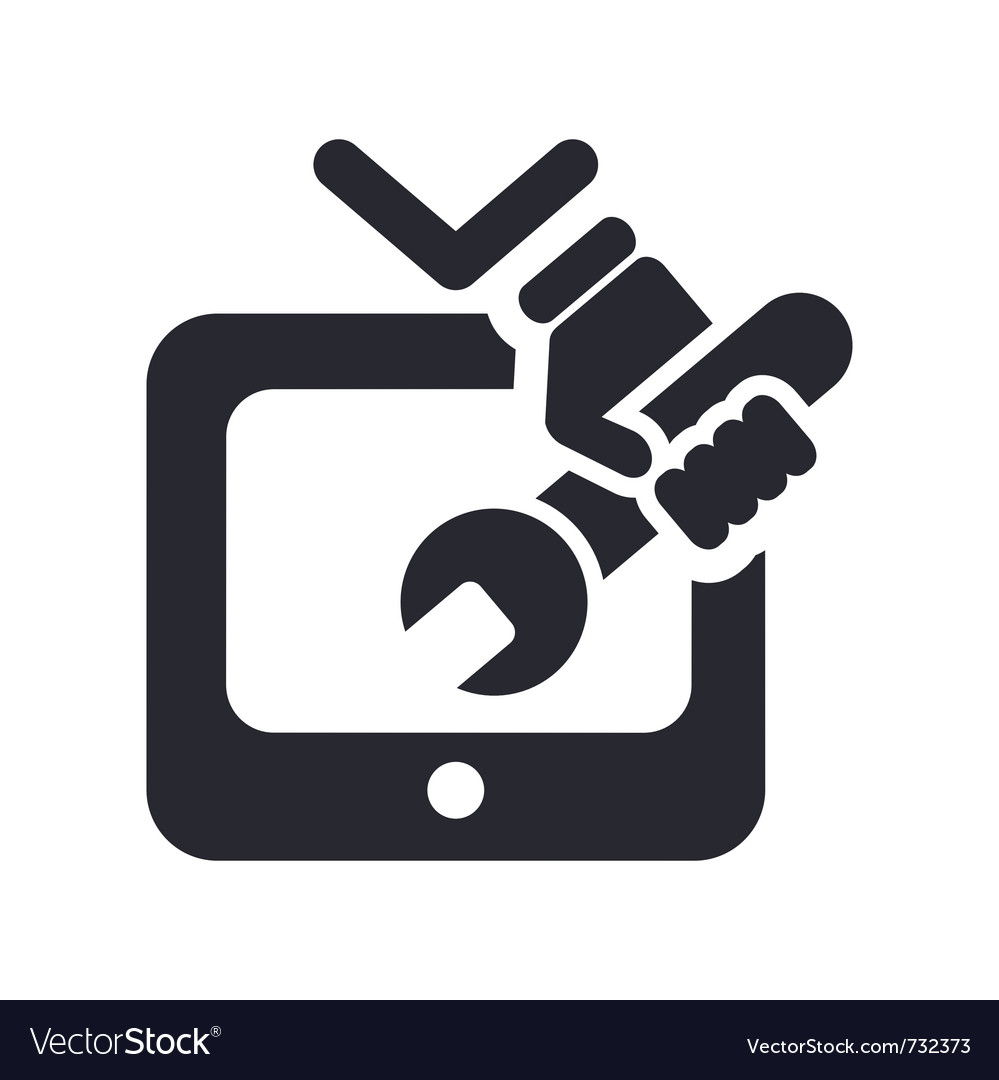 Tv repairman icon vector | Price: 1 Credit (USD $1)