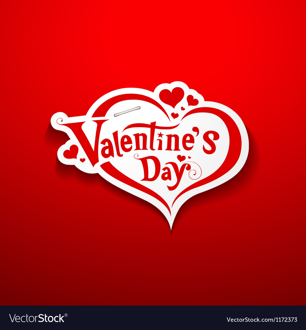 Valentine day message on red background vector | Price: 1 Credit (USD $1)