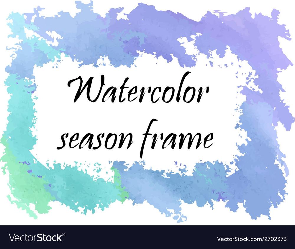 Watercolor winter frame vector   Price: 1 Credit (USD $1)