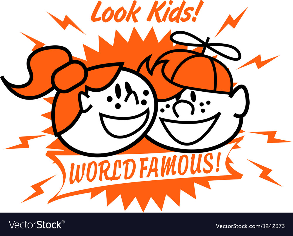 World famous kids vector   Price: 1 Credit (USD $1)