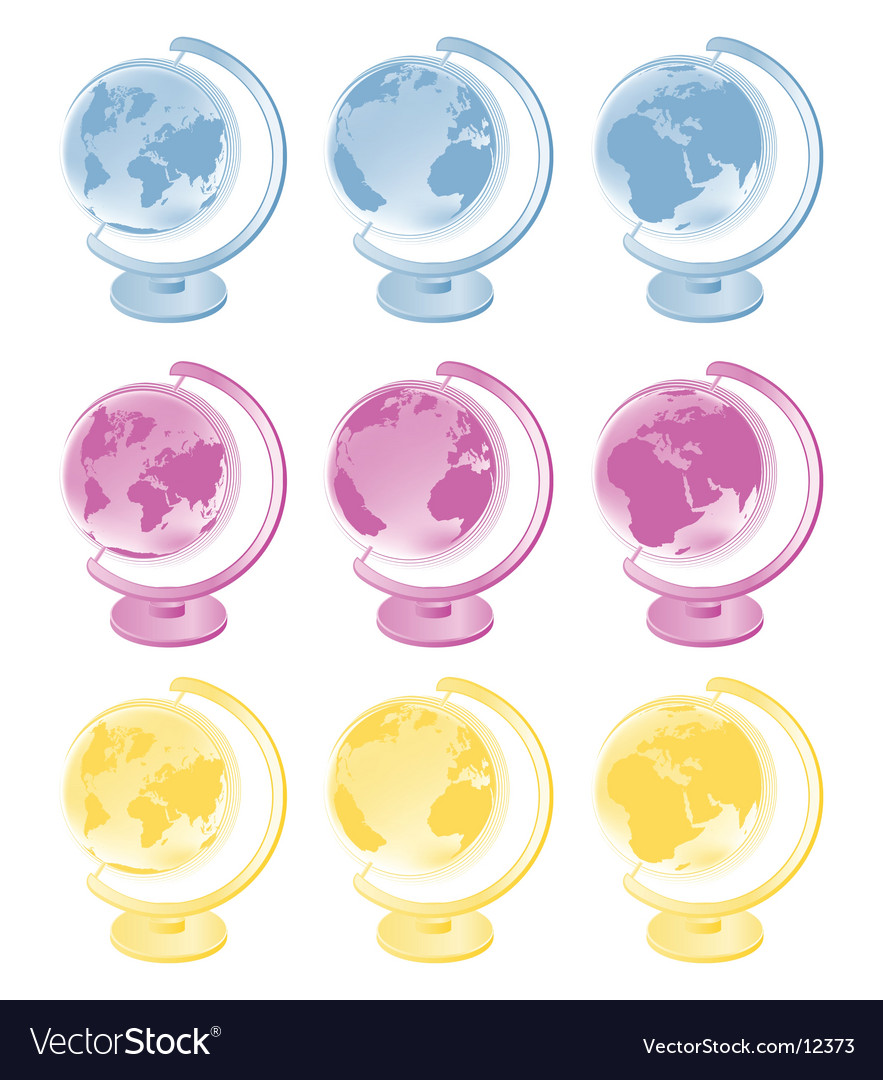 World globes vector | Price: 3 Credit (USD $3)