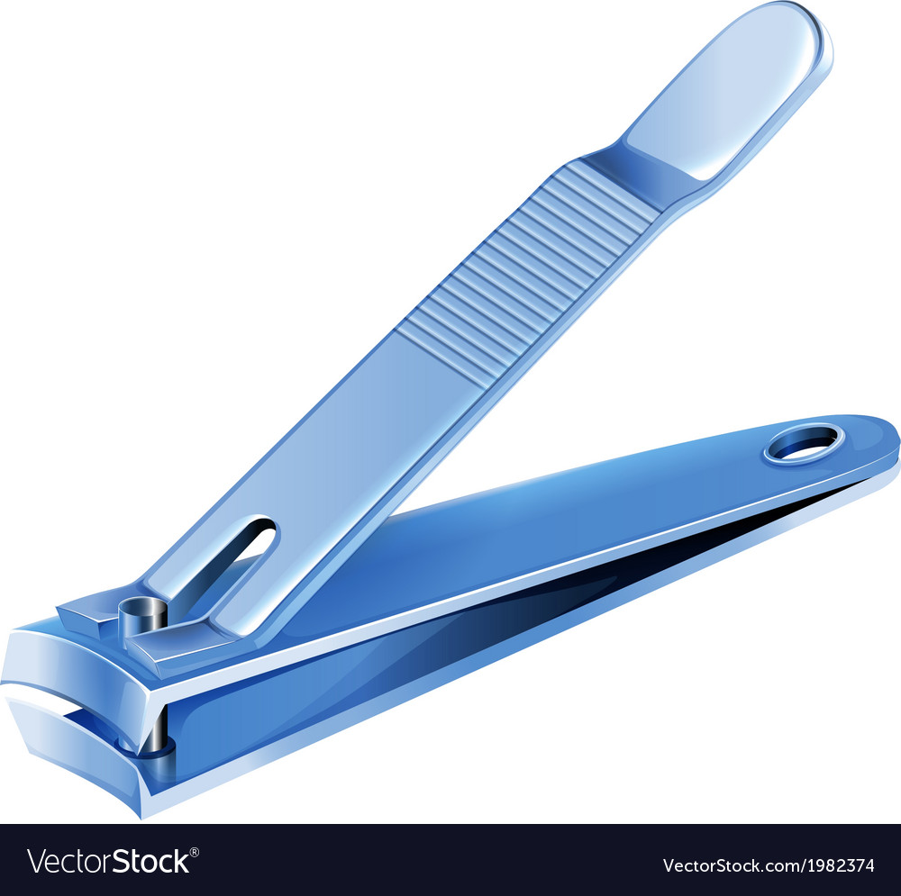 A blue nail clipper vector | Price: 1 Credit (USD $1)
