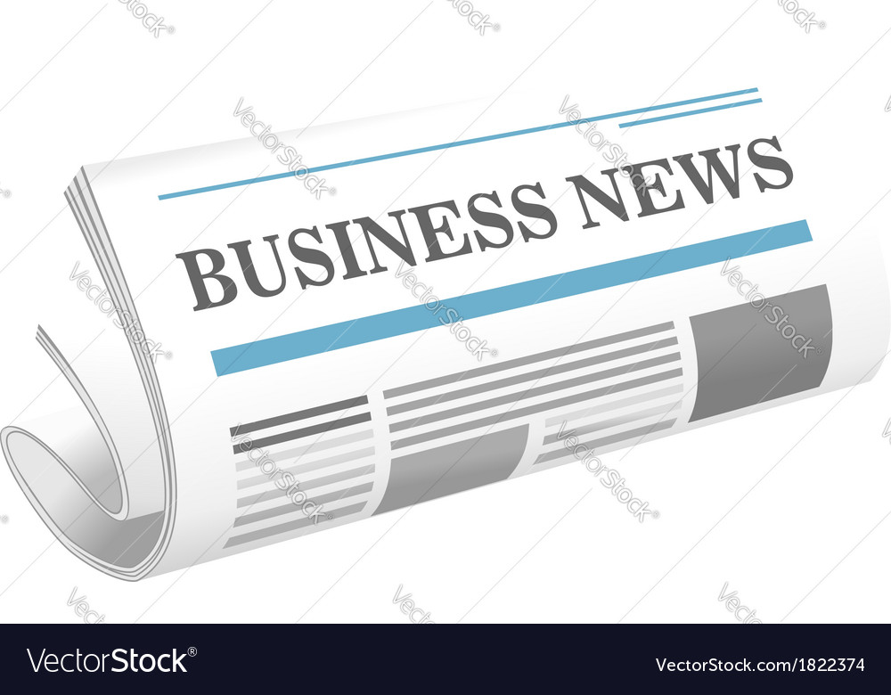 Business news paper icon vector | Price: 1 Credit (USD $1)