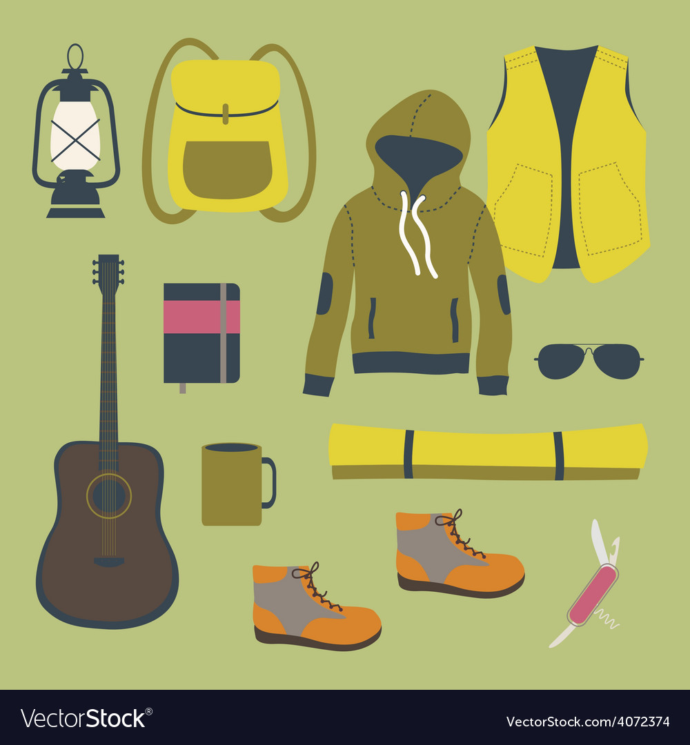Camping clip art vector | Price: 1 Credit (USD $1)