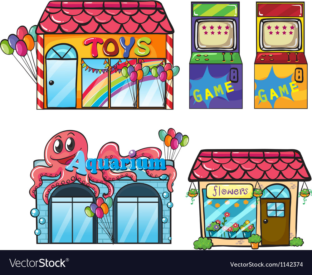 Different stores vector | Price: 1 Credit (USD $1)