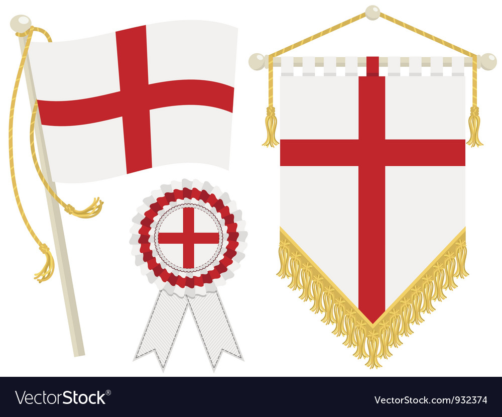 England flags vector | Price: 1 Credit (USD $1)