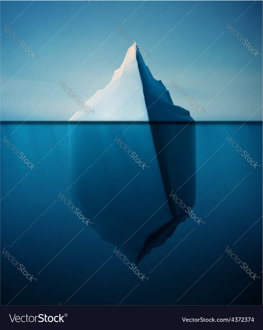 Lonely iceberg vector | Price: 3 Credit (USD $3)
